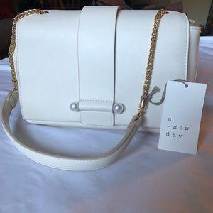NWT White Shoulder Bag